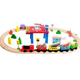 China Wooden toy train tracks