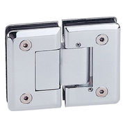 Adjustable shower hinge, 180 degrees glass to glass from Door & Window Hardware Co