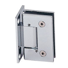 Adjustable shower hinge, square design, wall mounting, adjustable against the jamb ±15 degrees from Door & Window Hardware Co