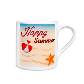 Customized Happy Summer ceramic mug,10.5 oz perfect gifts for friends and promotion