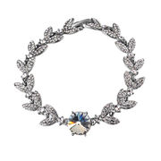 China 2016 New fashion Rich Wheat Design Platinum-plated Austria Crystal Metal Alloy Bracelets for Women