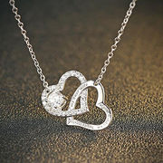 2016 Fashionable Love Design Platinum-plated Women's Sterling Silver Necklace from Wenzhou Success Group Ekstar Co. Ltd