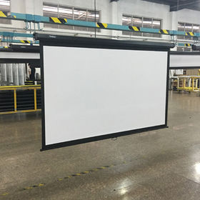 China 100-inch Manual Pull Down Projector Screen