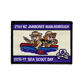 Iron-on Patch, 7 x 10cm, 14 Colored Embroidery for School/Team Uniforms