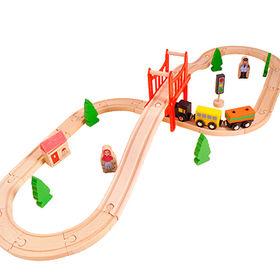 Kids' wooden train toy Manufacturer
