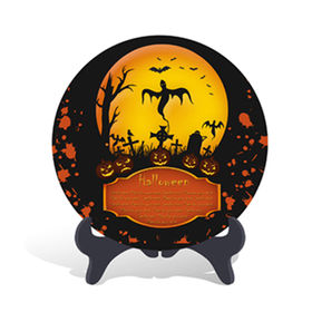 New Green Home Decorative Halloween Holiday Gift Plate Activated Carbon Carving Craft
