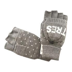 Children jacquard knitted glove