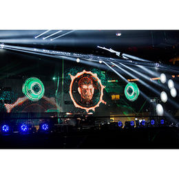 Hologram Mesh Screen 3D Holographic Projection System For Live Events Background