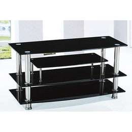 China Wholesale cheap black glass LCD TV stands