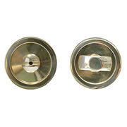 Sliding pocket door handle with lock, inside thumb turn and outside coin turn from Door & Window Hardware Co