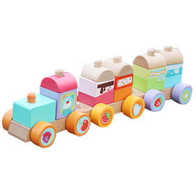 2016 new products lovely wooden toy train sets from China (mainland)