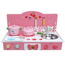Tabletop wooden kitchen play
