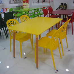 China Outdoor MDF wooden dining table, designs