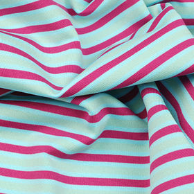 Anti-bacterial and Wicking Fabric in Yarn Dye Stripe Jersey from Lee Yaw Textile Co Ltd
