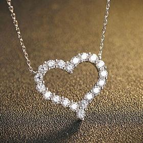2016 Fashion Design Love Platinum-plated Women's Sterling Silver Necklace from Wenzhou Success Group Ekstar Co. Ltd
