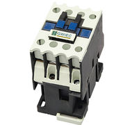 AC contactor is used to put a low voltage parallel connected capacitor