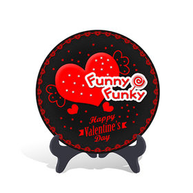 China New Home Decorative Valentine's Day Gift Plate Activated Carbon Carving Craft