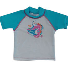 Girls' UV-protective rash guard