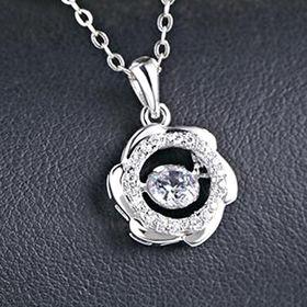 2016 Fashion Design Platinum-plated Women's Sterling Silver Necklace from Wenzhou Success Group Ekstar Co. Ltd