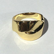 China Gold Vintage X Cross Ring Hollow Fine Jewelry Fash