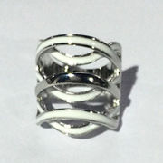 Three layers of overlapping metal alloy ring color punk fashion jewelry ring from HK Yida Accessories Co. Ltd