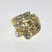 Hollow Out Women gold Ring Diamond Plated Wedding Engagement Cheap Fashion Jewelry Ring for Women from HK Yida Accessories Co. Ltd