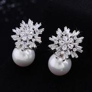 Zircon earrings from China (mainland)