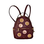 China Min Burgundy PU Daypack Ladies Backpack