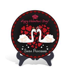 Home decorative Swan Valentine's Day holiday Gift Plate Activated Carbon Carving Craft