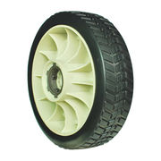 Solid rubber tire with plastic rim, for Honda lawn mower
