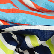 UV-Cut, Anti-bacterial and Wicking Fabric in Yarn Dye Auto Stripe Pique from Lee Yaw Textile Co Ltd