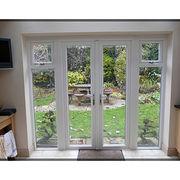 Upvc casement door with insulation glass