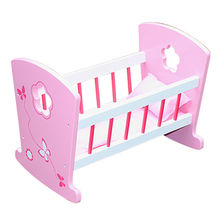 2016 best design kids wooden toy 18-inch doll bed from China (mainland)