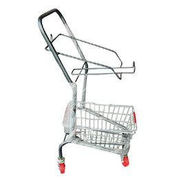 China 4-wheeler metal supermarket shopping trolley