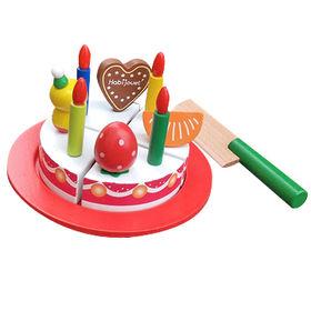 China 2016 new design kids wooden toy birthday cake