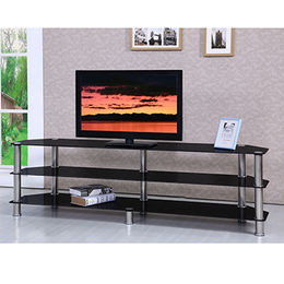Tempered glass modern corner TV stand from Langfang Peiyao Trading Co.,Ltd