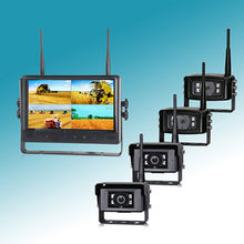 China 9inch 2.4GHz monitoring system with Dual screen / Quad view screen,128GB SD card