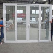 China Grill design pvc sliding door