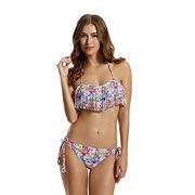 Women's Fringe Bandeau Bikini Swimsuit from China (mainland)