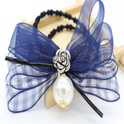 New han edition fashion alloy crystal bow hair rope from HK Yida Accessories Co. Ltd