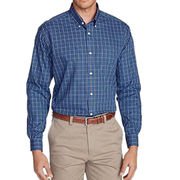 China Men's Wrinkle-Free Classic Fit Pinpoint Oxford Shirts, Blues