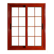 Wooden Color Aluminum Sliding Window from China (mainland)