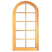 Europe Quality Solid Oak/Teak Wood Aluminum Windows