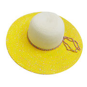 Women's Multiple Colors Wide Brim Straw Hats from China (mainland)