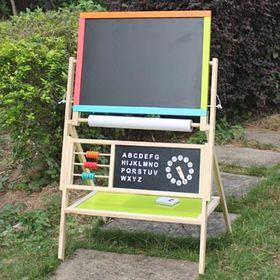 Children's wooden adjustable drawing board
