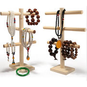 China Wholesale wooden rings stand jewelry display tree