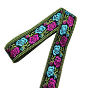 Delicate Needlepoint Lace Trims with Rose, Available in Various Designs
