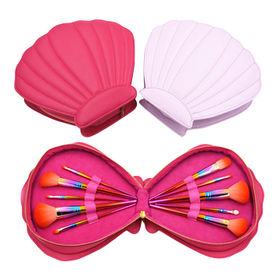 Makeup Brush Set Kit 10pcs with Seashell Bag/ Case from Shenzhen Rejolly Cosmetic Tools Co., Ltd.