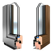 China Aluminum composite wood windows