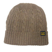 Plain Designs Woolen Knitted Beanie from China (mainland)